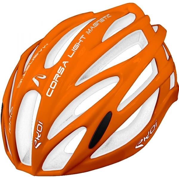 Pomarańczowo-biały kask EKOI CORSA LIGHT Fluo