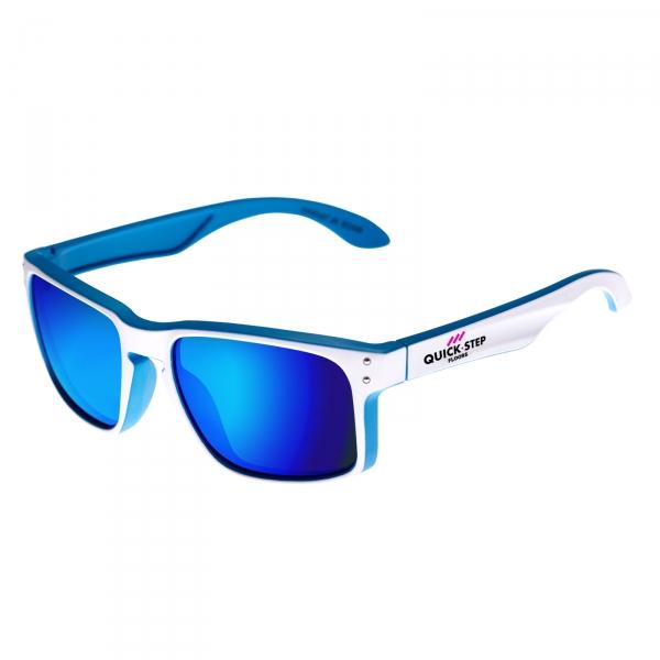 Biało-niebieskie okulary EKOI Lifestyle Quickstep