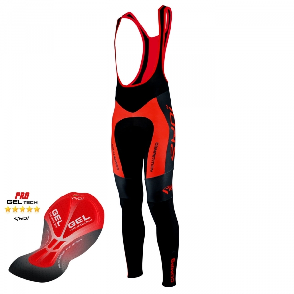EKOI Competition9 Gel pad black & red bib tights