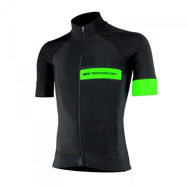 Fietsshirt EKOI Primavera Dry Technologie Groen fluo