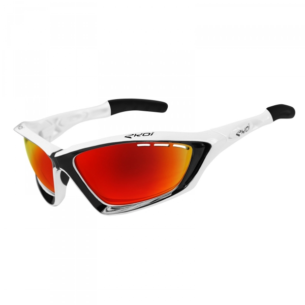 EKOI Fit First limited edition white & black sunglasses Revo red lens