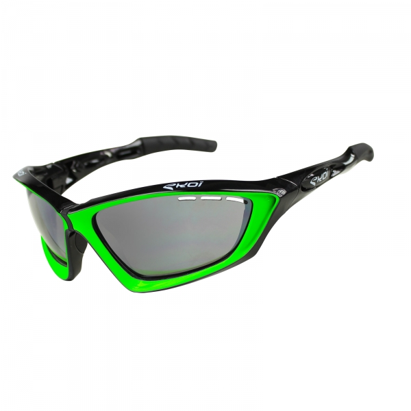 EKOI Fit First limited edition black & green sunglasses grey Cat 1-2 photochromic lens