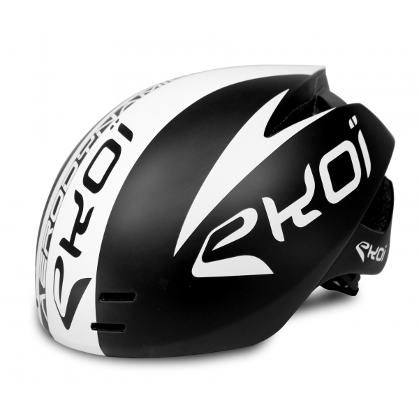 EKOI AERODYNAMIC black aero helmet with magnetic buckle
