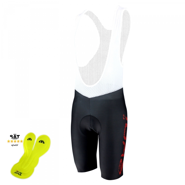 EKOI Perfolinea3 red bib short with NSAT insert