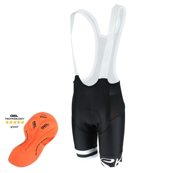 EKOI Corsa Light White GEL bib short