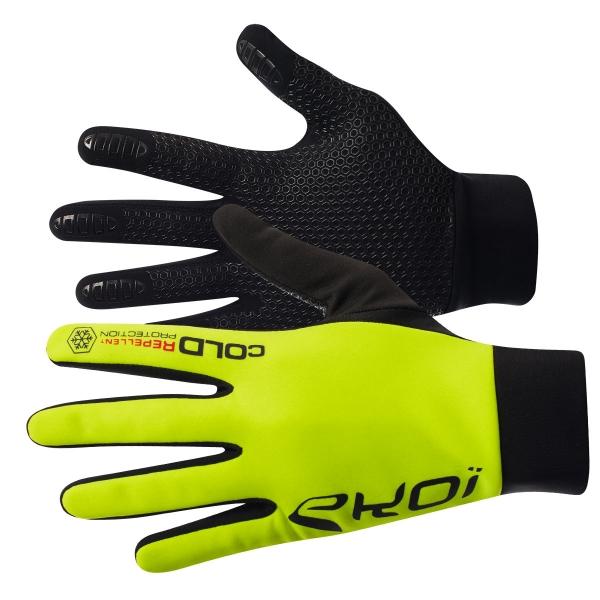 EKOI Fluo yellow Cold 2 winter gloves