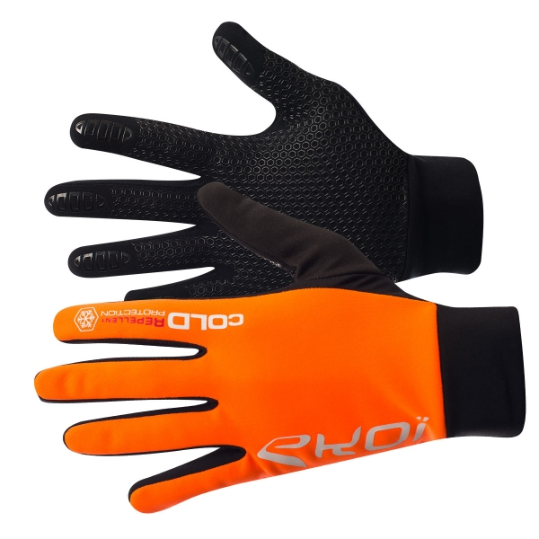 EKOI Fluo orange Cold 2 winter gloves