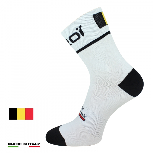 EKOI NATION White Belgium summer cycling socks