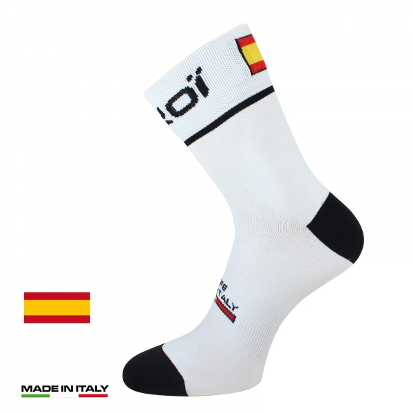 Skarpety rowerowe letnie EKOI NATION Białe Hiszpania