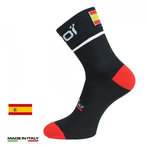 Skarpety rowerowe letnie EKOI NATION Czarne Hiszpania