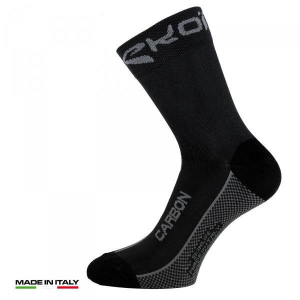 EKOI Black SKINLIFE CARBON Cycling socks