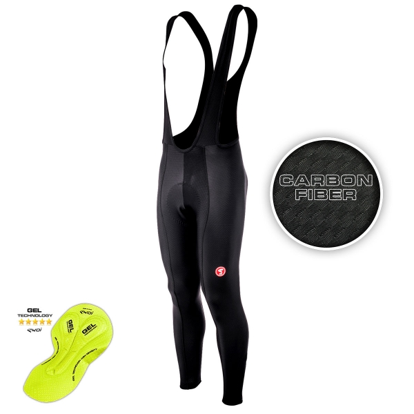 EKOI CARBON FIBER winter bib tights with Gel pad