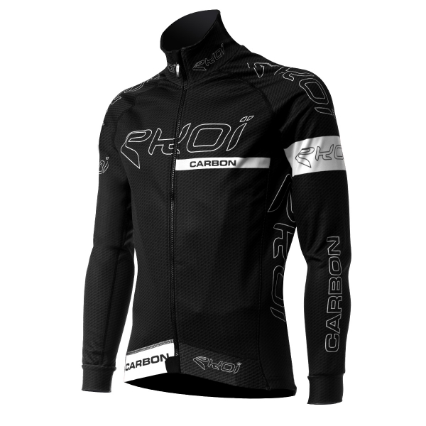 EKOI CARBON FIBER Black / White thermal winter cycling jacket