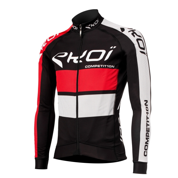 EKOI COMP10 Black / Red long sleeve cycling jersey