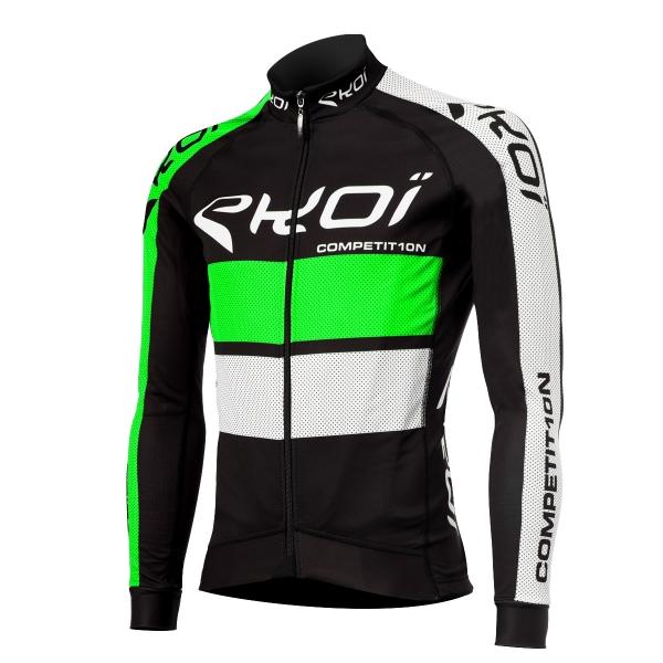 Zielono-czarna zimowa koszulka EKOI COMP10