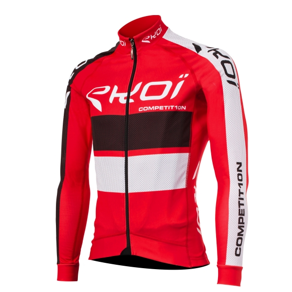 EKOI COMP10 Red long sleeve cycling jersey