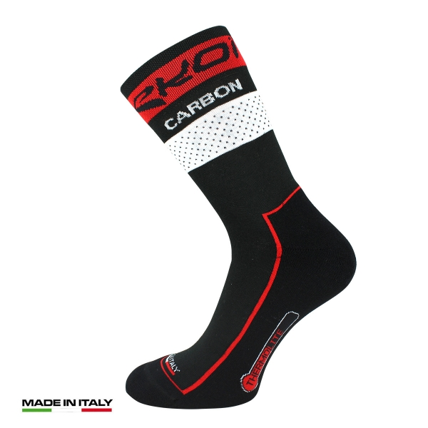 EKOI COMP10 Carbon Thermolite Black / Red winter cycling socks