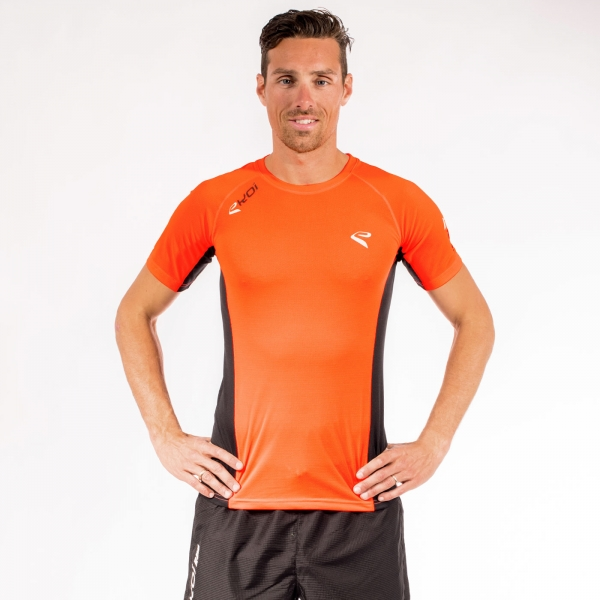 Tshirt EKOI RUN manches courtes Orange