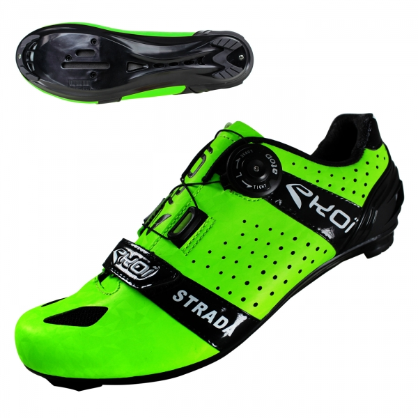 EKOI Strada Cristal Green fluo road shoes