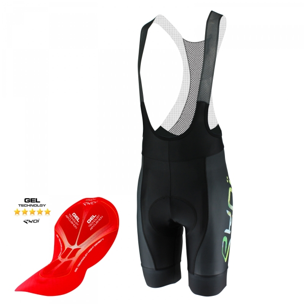EKOI All Over The World bib short with gel insert