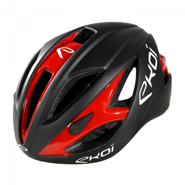 EKOI AR13 matt black / red helmet