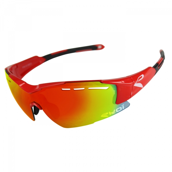 EKOI F15 Red sunglasses with Revo red lens
