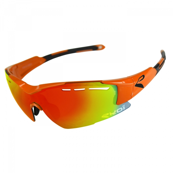 Zonnebril EKOI F15 Oranje fluo Revo rood