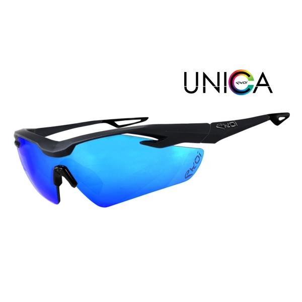 EKOI UNICA Limited Edition matt black sunglasses Revo Blue lens