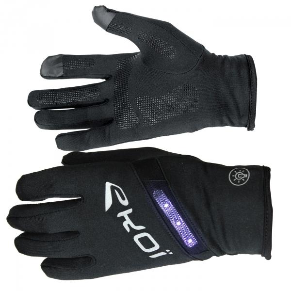 EKOI RUN gloves with LED lighting