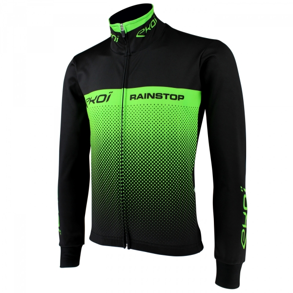EKOI RAIN STOP BLACK / GREEN FLUO JACKET