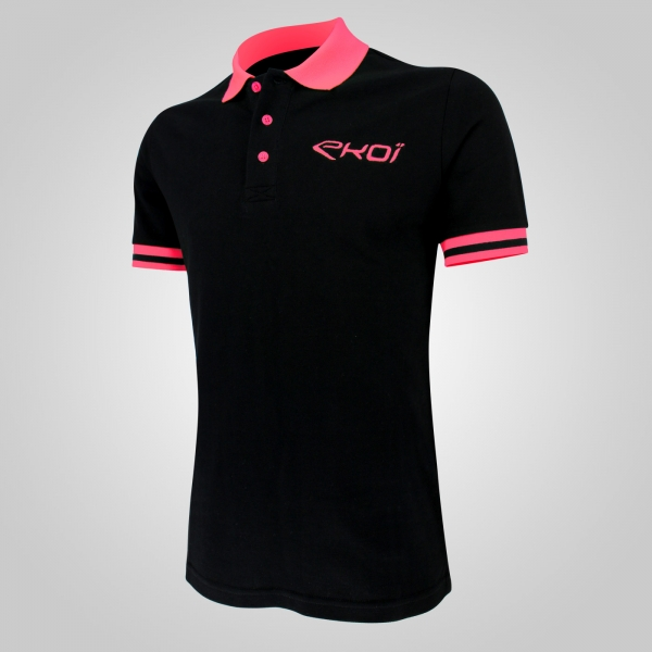 EKOI Club Pink fluo men's polo