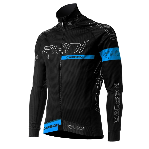 EKOI CARBON FIBER Black / Blue thermal winter jacket