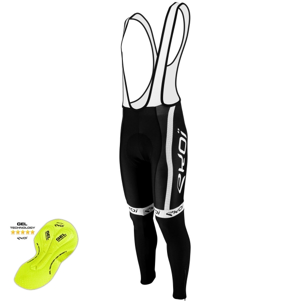 EKOI COMP10 Black / White winter bib tights