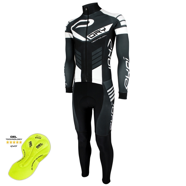 EKOI DRY Black / Grey / White skin suit with gel pad