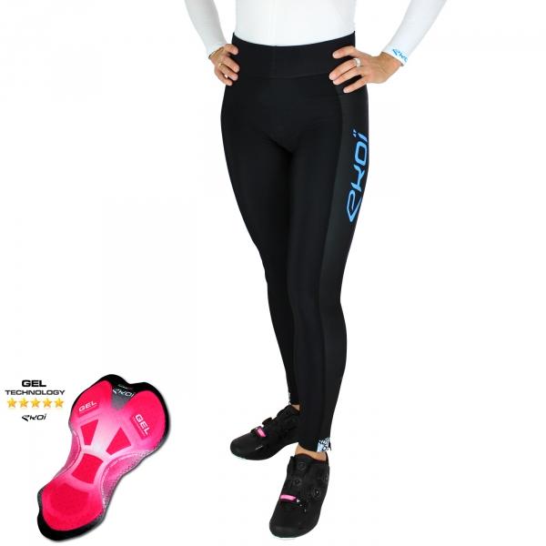 EKOI LADY Algoritmo Blue women's strapless bib tights with GEL insert