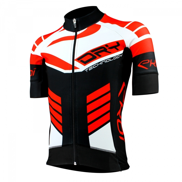 EKOI DRY Primavera Black / Red short sleeve jersey