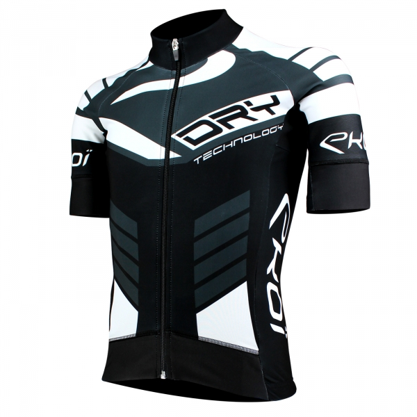 EKOI DRY Primavera Black / Grey short sleeve jersey