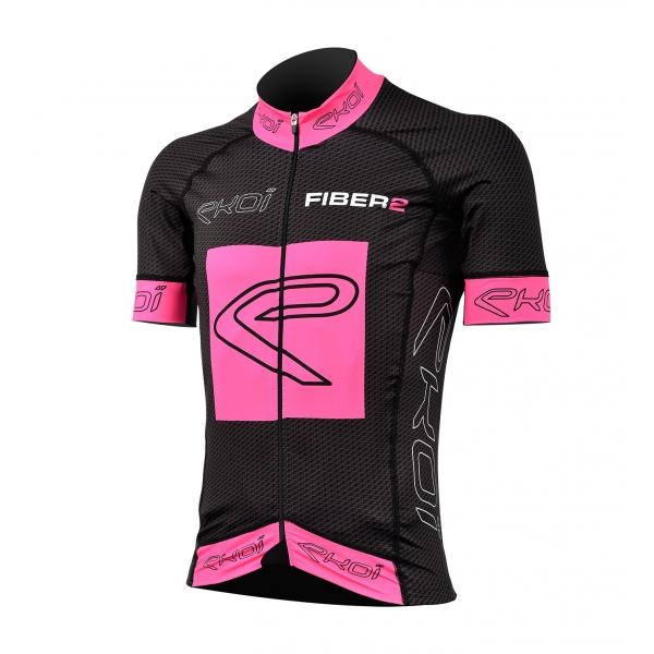 Shirt EKOI Carbon Vezel 2 Rose Fluo
