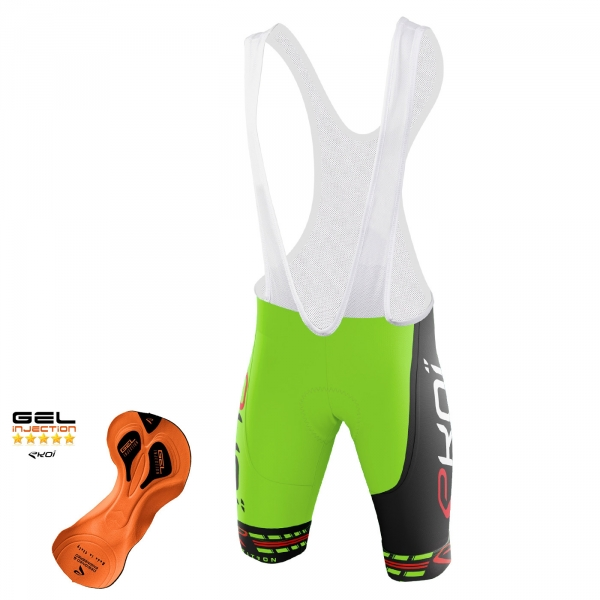 EKOI COMP11 Gel Injection Green / Black bib short