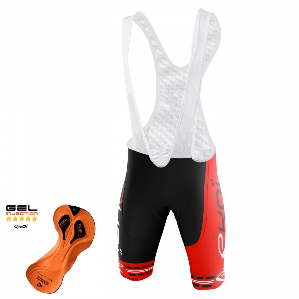 EKOI COMP11 Gel Injection Black / Red bib short