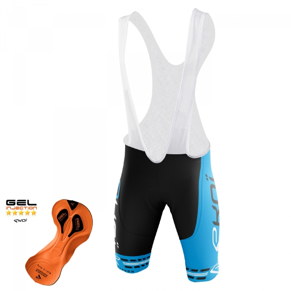 EKOI COMP11 Gel Injection Black / Blue bib short