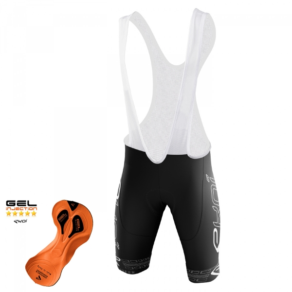 EKOI COMP11 Gel Injection Full Black bib short