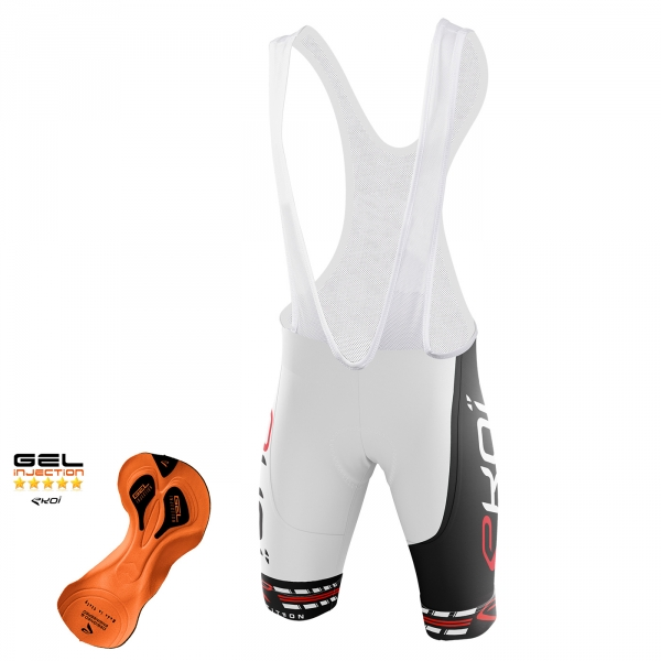 EKOI COMP11 Gel Injection White / Black bib short