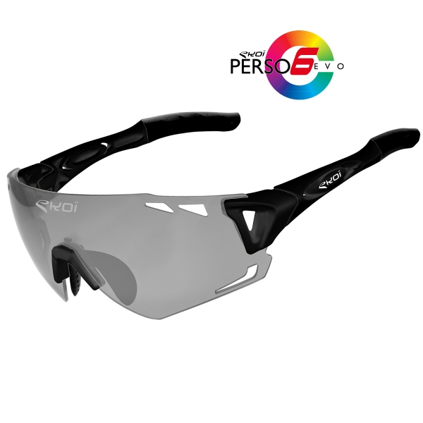 EKOI Persoevo6 limited edition black sunglasses with cat 1-2 photochromic lens