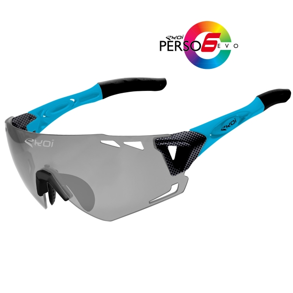 EKOI Persoevo6 limited edition carbon blue sunglasses with cat 1-2 photochromic lens