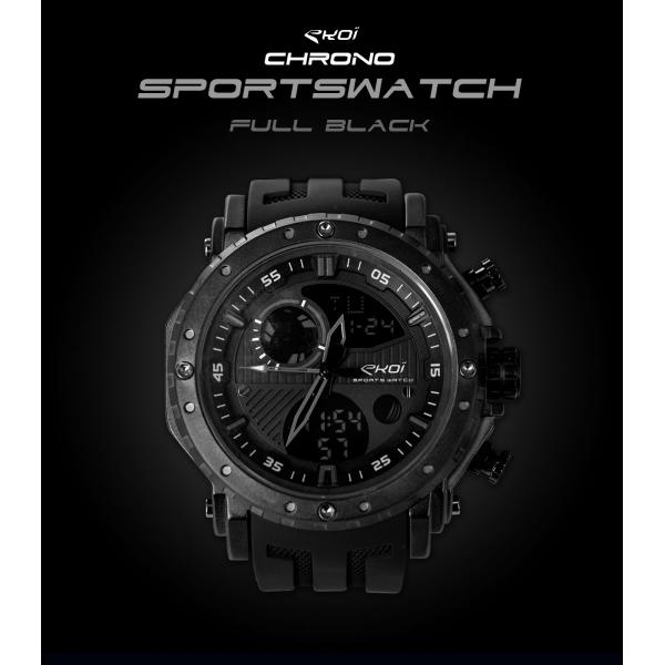 Zegarek EKOI Sportswatch Full Czarny